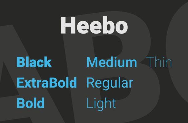 Heebo Font Family