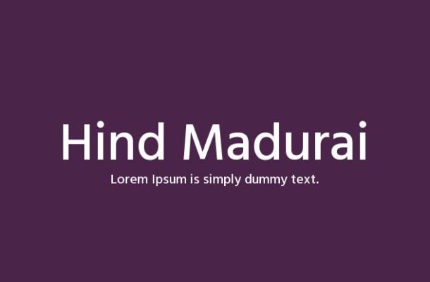 Hind Madurai Font Family