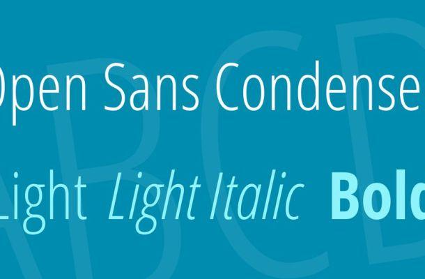 Open Sans Condensed Font Family
