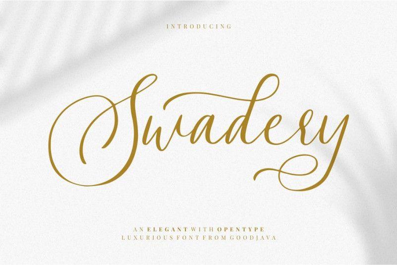 swadery-script-font