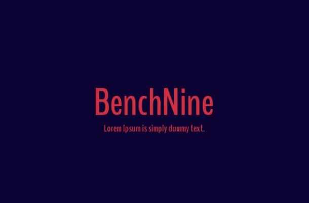 BenchNine Font Family