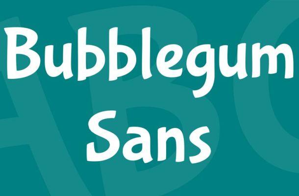 Bubblegum Sans Font