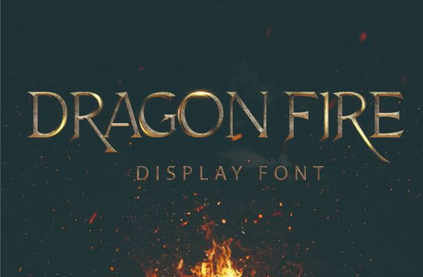 Dragon Fire Font