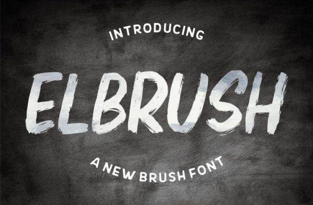 Elbrush Font