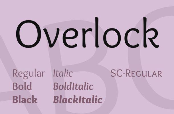 Overlock Font Family