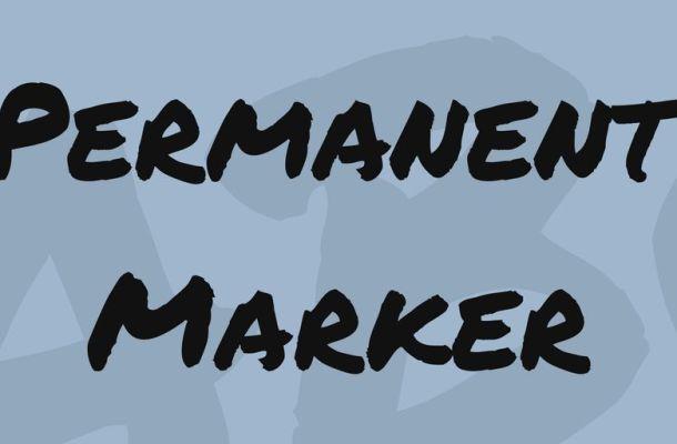 Permanent Marker Font