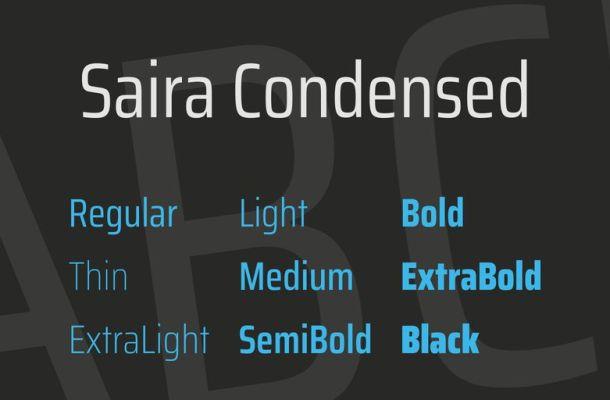 Saira Condensed Font Family