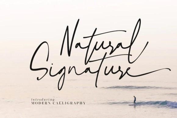 Natural Signature Font