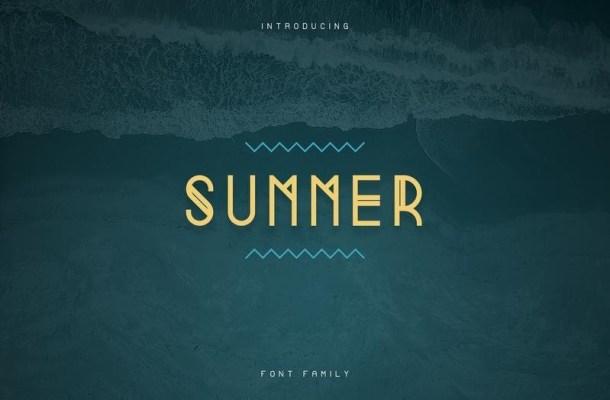 Summer Display Font
