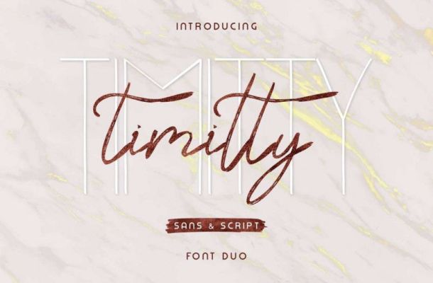 Timitty Font Duo