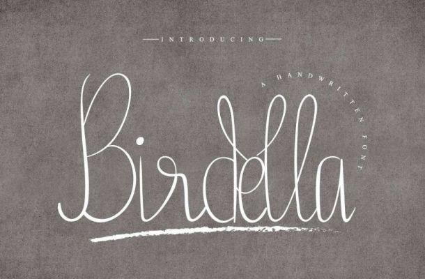 Birdella Calligraphy Font