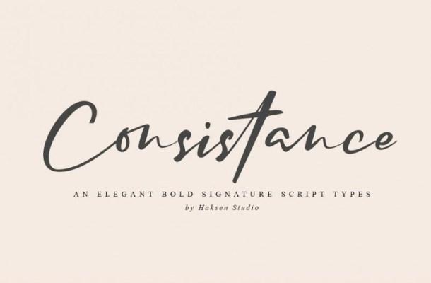 Consistance Bold Signature Script