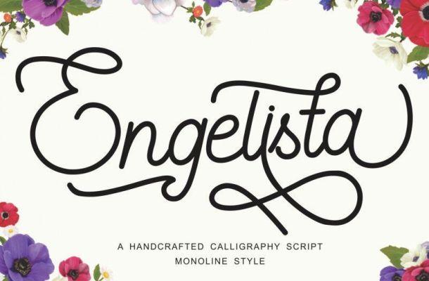 Engelista Monoline Font