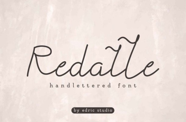 Redalle Monoline Handwritten Font