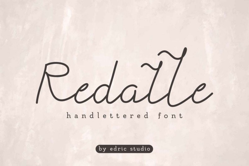 Redalle-Monoline-Handlettered-Font