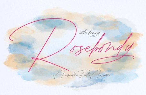 Rosebondy Handwritten Font