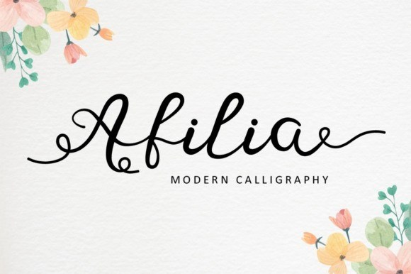 Afilia Modern Calligraphy Font