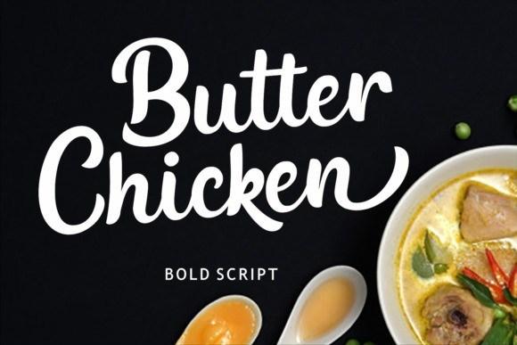 Butter Chicken Script Font