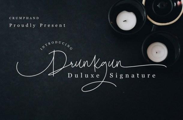 Drunkgun Singature Font