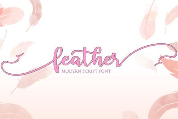 Feather Modern Script Font