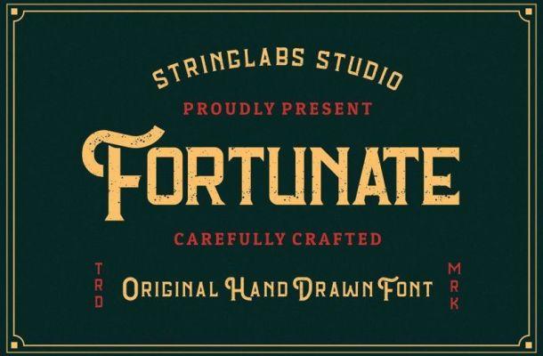 Fortunate Hand Drawn Display Font