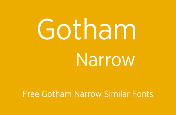 Gotham Narrow Font Free