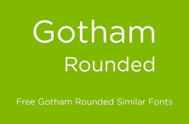 Gotham Rounded Font Free