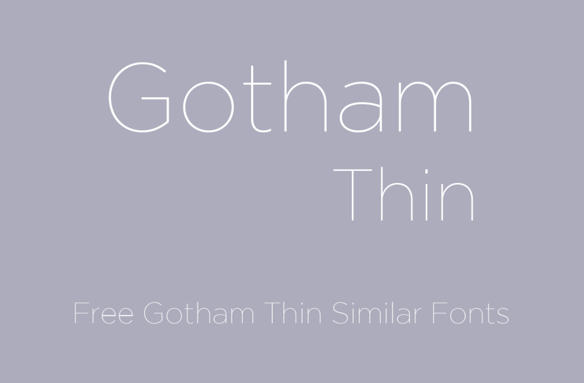 Download Gotham Font Family Free - Download Fonts