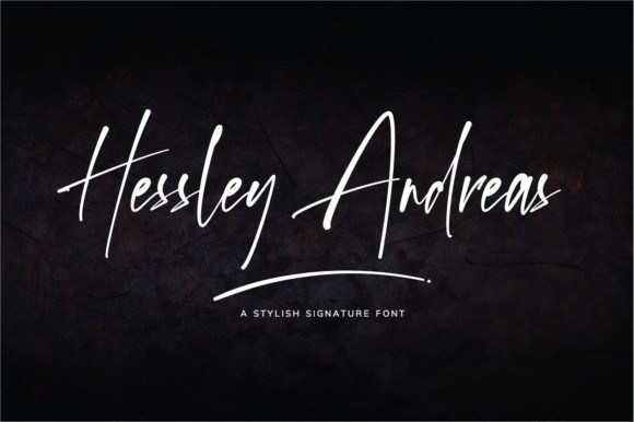 Hessley Andreas Handwritten Font