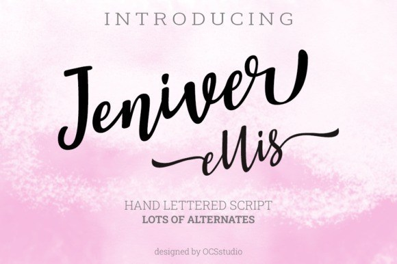 Jennifer Ellis Calligraphy Font