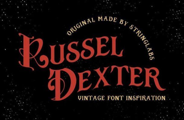 Russel Dexter Retro Vintage Font