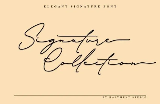Signature Collection Font