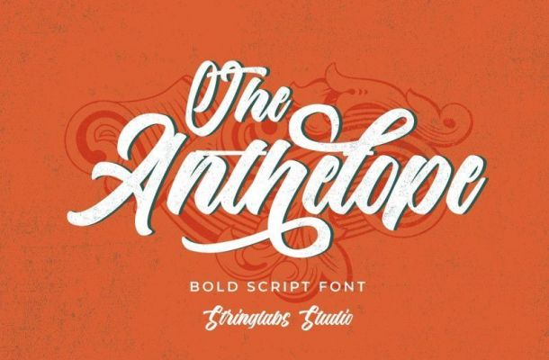 The Anthelope Retro Script Font