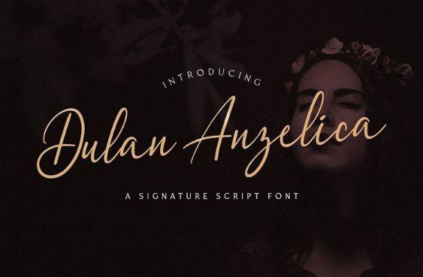 Dulan Anzelica Signature Font