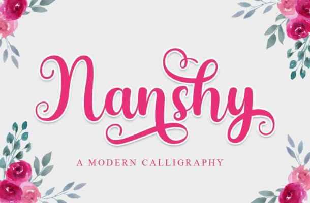 Nanshy Modern Calligraphy Font
