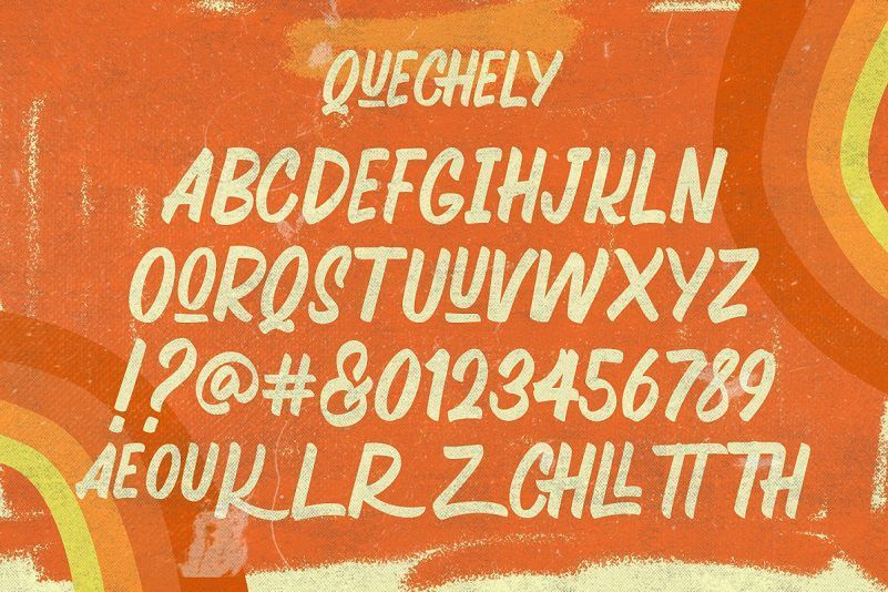 Quechely-Sign-Retro-Layered-Font-3
