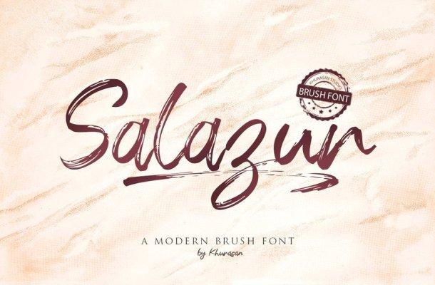 Salazur Brush Font
