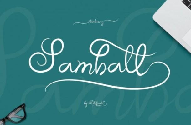 Samball Script Font
