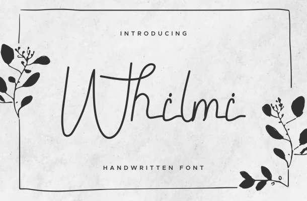Whilmi Signature Font