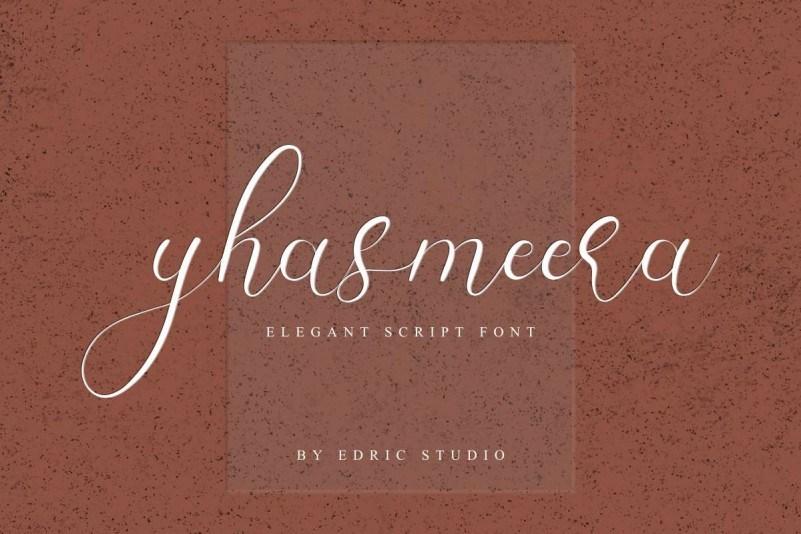 Yhasmeera-Calligraphy-Font-1