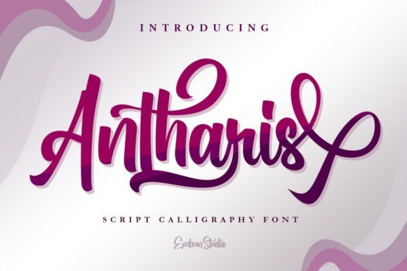 Antharis Calligraphy Font