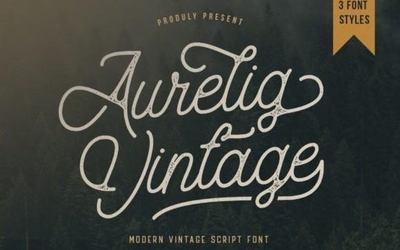 Aurelig Vintage Script Font