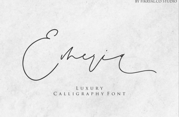 Emeria Luxury Calligraphy Font