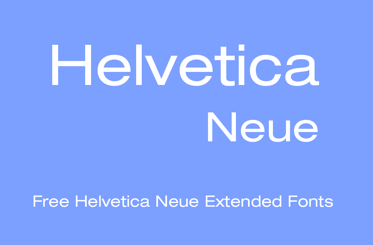 helvetica neue extended font