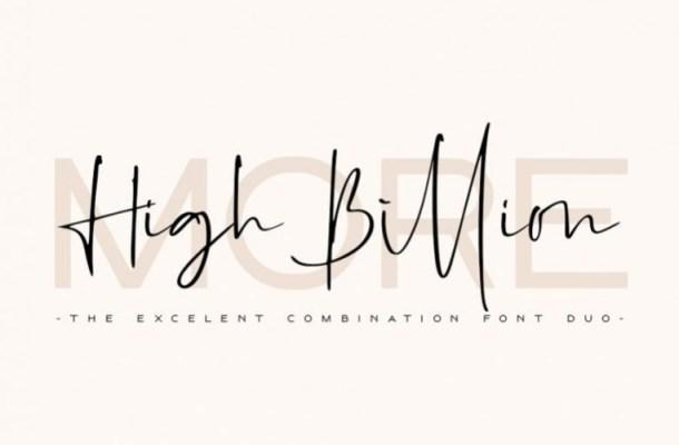 High Billion Handwritten Font