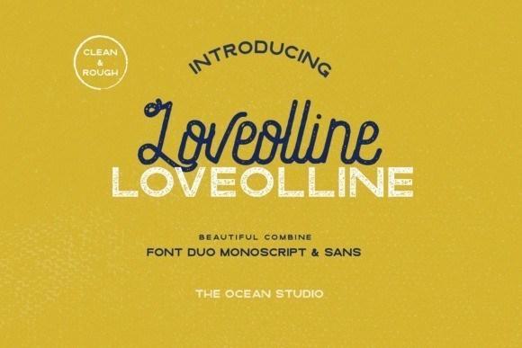 Loveolline Font Duo