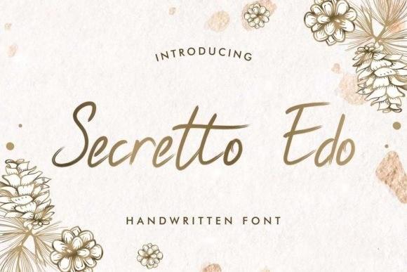 Secretto Edo Brush Font