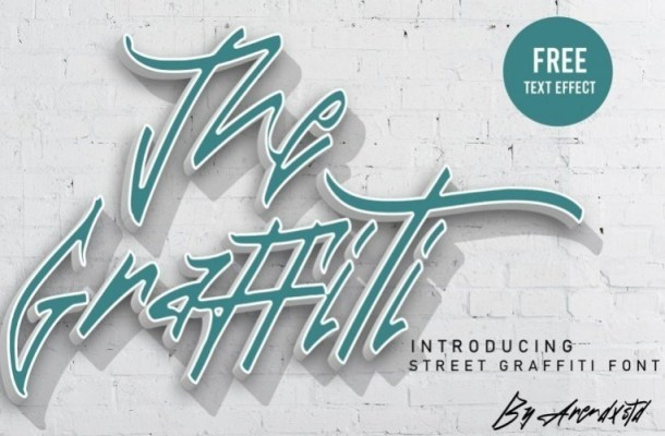 The Graffiti Font Free Text Effect