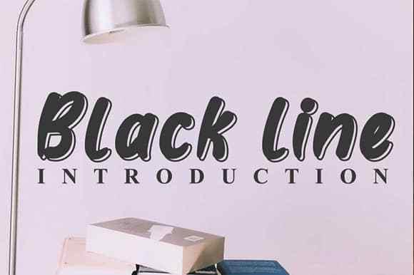 Black-line-Display-Font-1