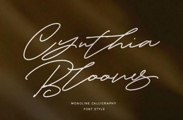 Cynthia Blooms Signature Font